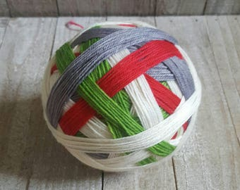 DYED TO ORDER: Hand Dyed Self Striping Sock Yarn ~ Christmas Time