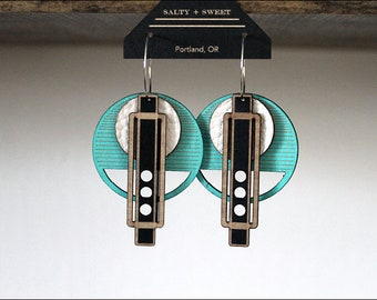 Laser cut earring | WRIGHT: Turquoise