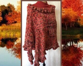 Crochet Lace Poncho, Boho Gypsy Shawl, Crochet Poncho, Boho Crochet Shawl, Knit Wrap, Freeform Crochet, Lace Poncho, Boho Chic Wrap