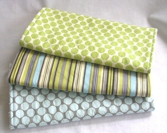 Boutique Burp Cloth Set - Amy Butler fabrics - 3 coordinating burp cloths w blue terry cloth