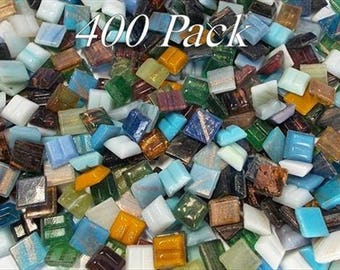 10mm mosaic tiles 400 Tiles Gold Dust Mixed Bag