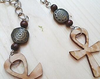 Ankh Dangle Earrings