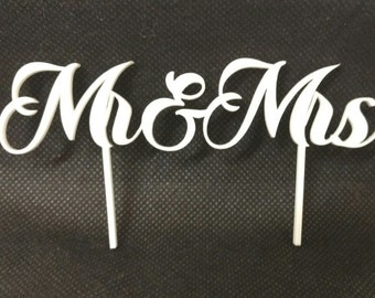Mr & Mrs, Mrs and Mrs, Mr and Mr acrylic cake toppers