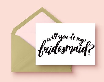 Will you be my bridesmaid? | single card