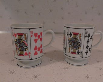 Hearts and Clubs Deck of Cards Coffee Mugs