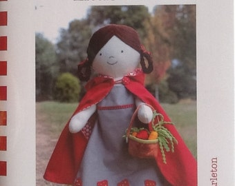 "Ric raC Pattern ""Little Red"" 18""(46cm)  Doll Pattern by Jodie Carleton"
