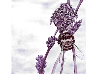 Wine Painting: The Bee - reproduction of original