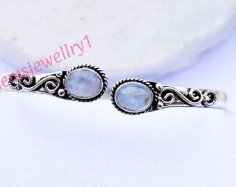 Moonstone bangle, bracelet, Gemstone bangle, bangle, Silver bangle, personalised bangle, stone bracelet, indian jewellry