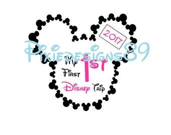 My 1st Disney Trip 2017 - INSTANT DOWNLOAD T-Shirt Transfer