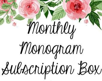 Monthly Monogram Subscription Box