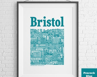 Bristol Harbour Illustrated Screenprint