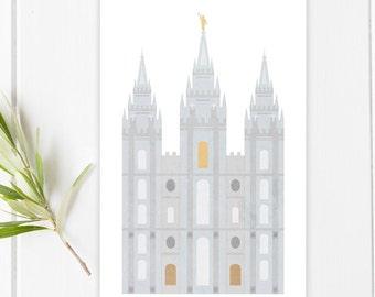 Salt Lake Temple Illustration