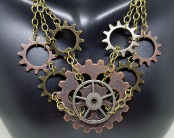 Smooth -- Steampunk Necklace