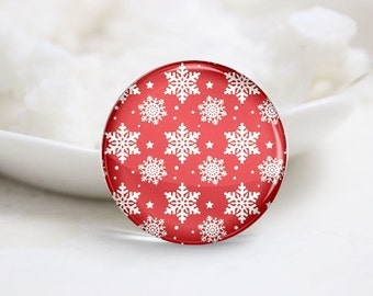 10mm 12mm 14mm 16mm 18mm 20mm 25mm 30mm Handmade Round Photo Glass Cabs Cover-Christmas (P2108)