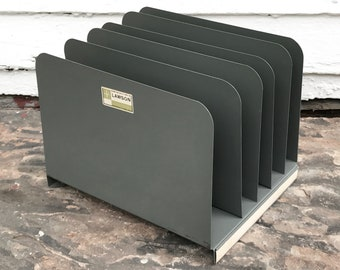 file folder organizer ~ Lawson heavy duty file organizer ~ almost 6 lbs ~ upright file holder ~ desk file organizer ~ office file storage