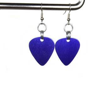 Guitar Pick Earrings, choose your color