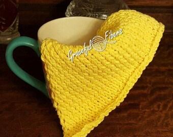 Lemon Spring Dishcloth Knit Pattern