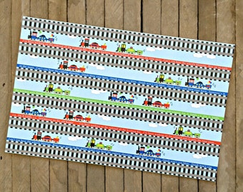 Train Themed Birthday Party Paper Placemats  - Set of 8