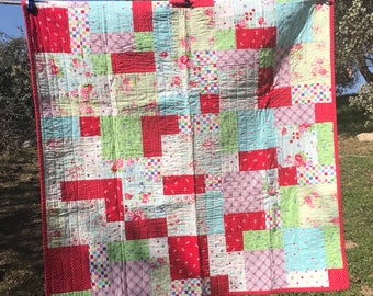 Baby girl quilt, baby quilt, toddler quilt, cot quilt, lap quilt, throw quilt