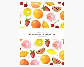Notebook, journal, diary, watermelon, pineapple, strawberry, travel notebook, watercolor, lined notebook, A6, papergoods, stationery, cute