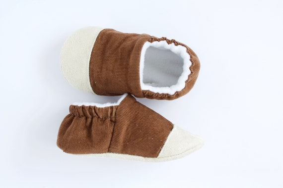 Brown Corduroy  toe cap shoes, boys pre walkers and toddlers