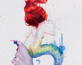 Mermaid Pair - The Women from Down Under Watercolor