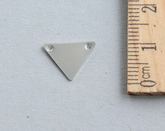 SALE, Triangle Charm, Silver Triangle Charm, 925 Sterling Silver Charm, Sterling Silver triangle tag charm, Geometric Charm, 12mm (1 piece )