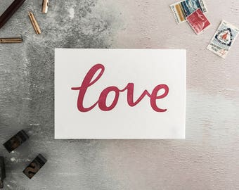 Love Letterpress Card - Suitable for Valentines, Anniversary, Wedding or Engagement