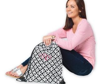 Black Sadie Gym Bag, laundry bag, backpack