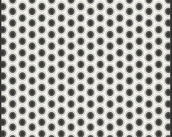 Oval Elements Collection - Cookies 'n Cream  - Black, White - Art Gallery Fabrics - Premium Cotton Quilting Fabric - One Yard