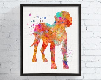 Watercolor Great Dane, Great Dane Print, Great Dane, Great Dane Art, Great Dane Wall Decor, Dog Silhouette, Modern Wall Art, Dog Art Print