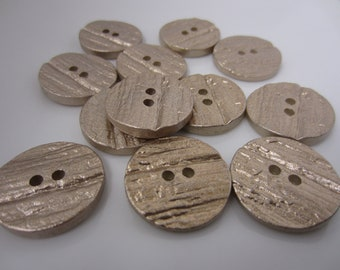 Gilded Sand Buttons - qty. 12