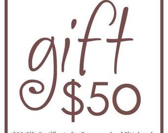 50 Certificat-cadeau pour Pursesonals de Pittsburgh