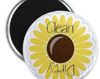 Sunflower Clean Dirty Dishwasher Magnet