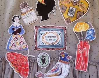 Victorian parlour 9 sticker set