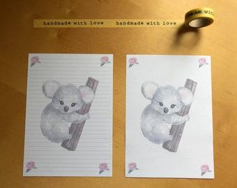 Koala Snail Mail Pen Pal Writing Paper