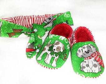 CHRISTMAS,Baby Shoe,Soft Sole Shoe, Rockabilly,Toddler Slipper,Baby Shoe