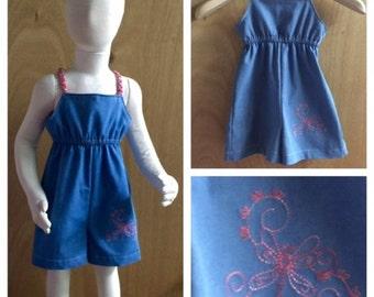 Denim Embroidered Summer Jumper, size 3t