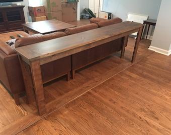 Rustic Special Walnut Sofa Table