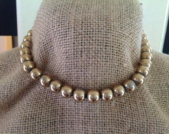 """Vintage~Signed MONET~Beaded Necklace~17.5"""""""