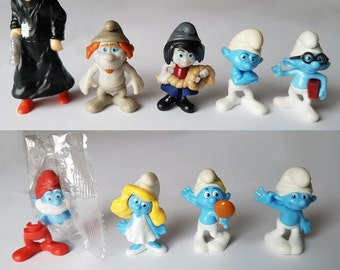 SMURFS 2 Cake Topper  9 Figure Set Birthday Party Cupcakes Figurines Kinder Surprise