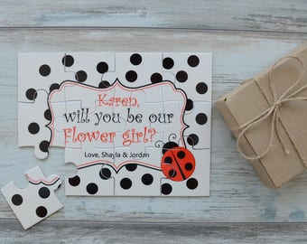 Will You Be Our Flower Girl Personalized Proposal Puzzle, Flower Girl Proposal, Asking Flower Girl Puzzle, Flower Girl Gift, Ask Flower Girl