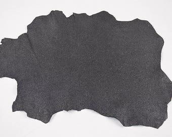Glittered Black Lambskin Leather Skin