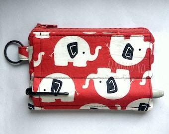 Pen holder zip purse Cute Elephant handmade cardholder school teacher gift sac a main, portefeuille id1370173 portemannaie, id lanyard pouch