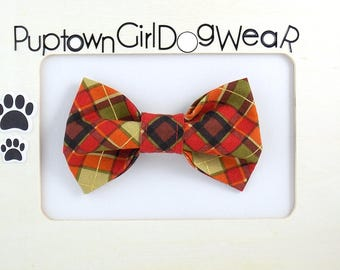 Red Plaid Dog Bow Tie Cat Bow Tie Plaid Bow Tie Dog Bow Tie Red Plaid Bow Tie Christmas Bow Tie for Dog