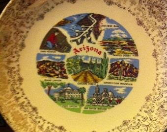 Vintage Arizona Souvenir Plate