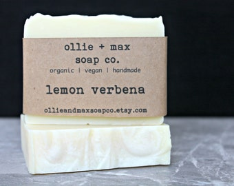 Lemon Verbena Soap, Vegan Soap, Organic Soap, Citrus Soap