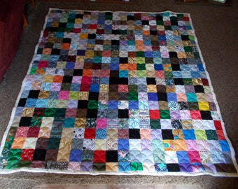 XL Twin Quilt - Scrappy Patchwork Quilt - XL (Extra Long) Twin Size Quilt - Full Payment