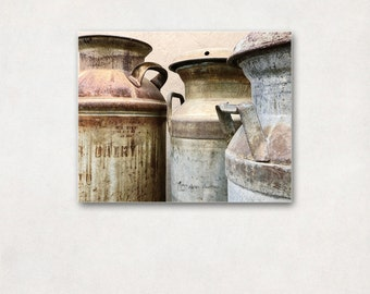 Kitchen Wall Decor, Canvas Art Wrap, Rustic Photography, Neutral Farmhouse Decor, Large Wall Art