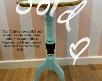 Pretty Eau de Nil Handpainted Table